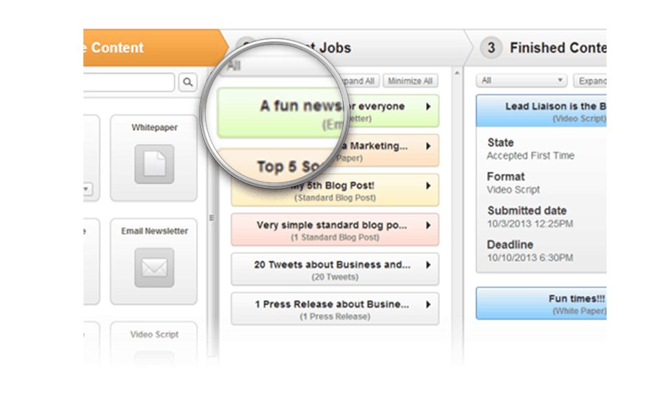 Manage The Content Workflow