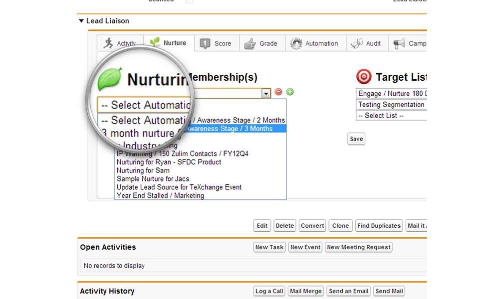 Nurture from Your CRM