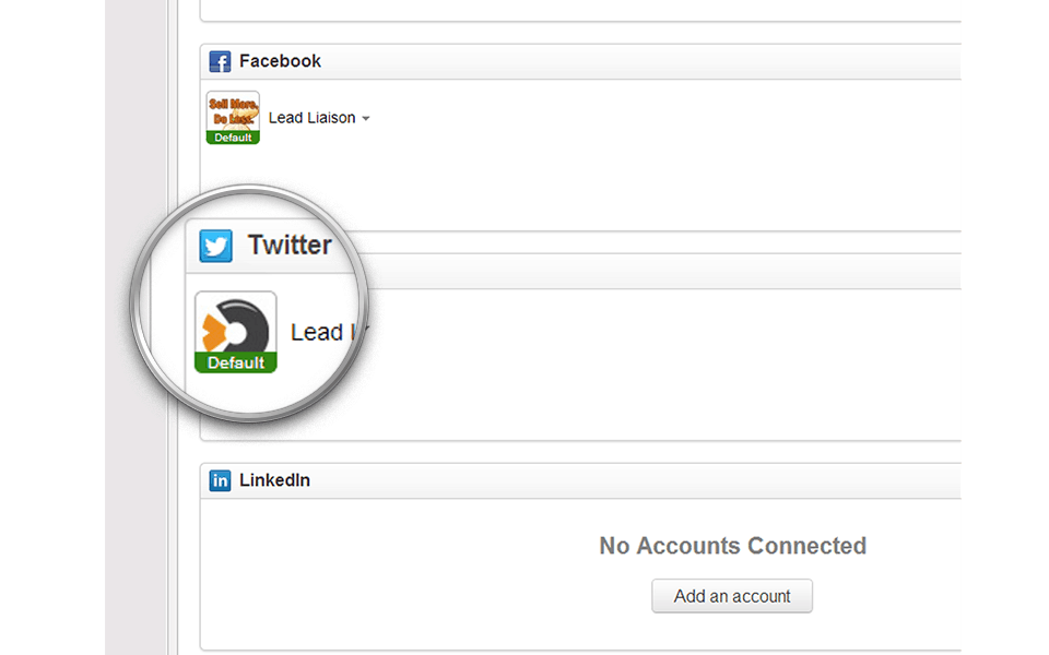 Twitter, LinkedIn and Facebook Support