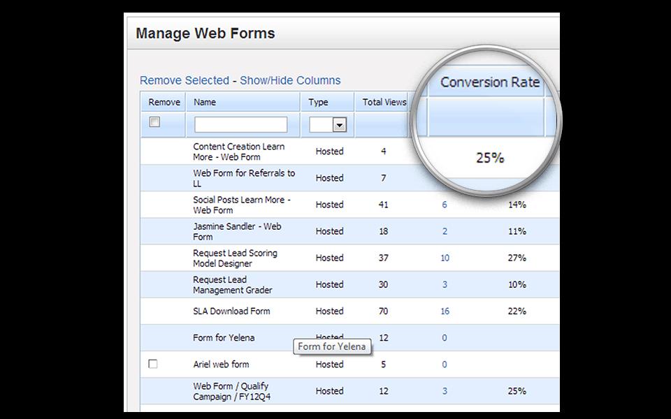 Web Form Conversions